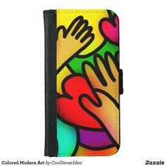 Colored Modern Art Wallet Phone Case For iPhone 6/6s