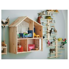 IKEA Kids' Bedroom Ideas: Inspiration and Shopping House Shelves, House Wall, Wall Shelves, Ikea Dollhouse, Dollhouse Kits, Ikea Kids, Ikea Regal, Ikea Home, Wall Organization