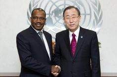 Secretary-General Ban Ki-moon meeting with Hamadoun I. Touré (from Mali)
