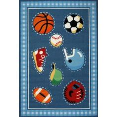 LA Rug Inc Olive Kids Go Team Multi Colored 19 in. x 29 in. Accent Rug-OLK 029 1929 at The Home Depot