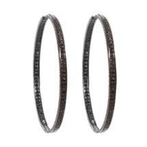 Repossi Black Diamond Berbere Hoop Earrings