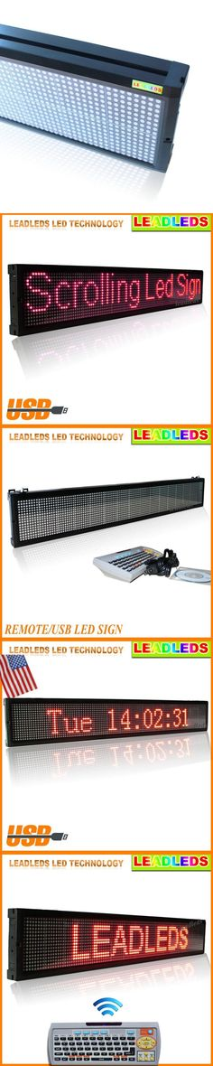 "40""x6.3"" Led display indoor Programmable Scrolling Message led sign Board for Business and Store - Red Message"