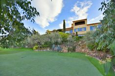 View up to the villa from the golf space