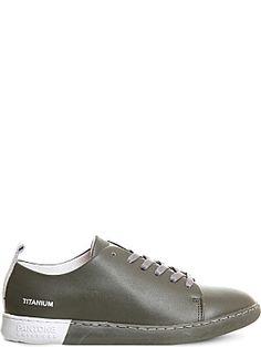 PANTONE Nyc leather trainers