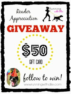 RUNNING WITH OLLIE: Happy Ollieversary and Reader Appreciation $50 Gift Card Giveaway!