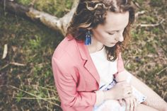 Spring outfit: Aquarelle / pink  blue / DIY earrings © Célestine Aerden Photography https://www.facebook.com/PhotographyCelestineAerden