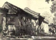 几曾回首:北京胡同铅笔画 (一) - 由玉渊潭八一湖发表 - 文学城