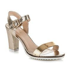 Zlaté sandále SNAKE K64GO