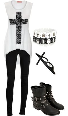 """Untitled #647"" by bvb3666 ❤ liked on Polyvore... Reminds me of G-Dragon's MV ""Crooked"" <3"