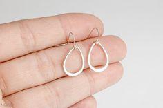 TEARDROP  Sterling Silver drop dangle earrings by MoodJewelry, $18.00
