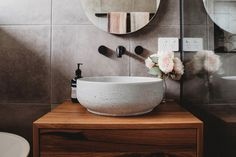Concrete Basins and Benchtops | DLH Designs – DLH Designs Gippsland Bathroom Layout, Bathroom Ideas, Concrete Basin, Business Place, Fashion Room, House Rooms, Interior Design Inspiration, Interior Decorating, Sweet Home