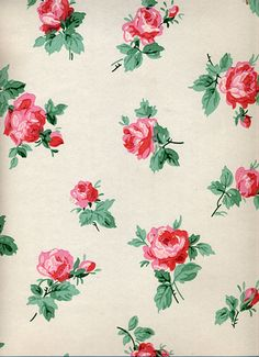 Vintage Wallpaper by LarkingAbout, PERFECT for Florence's bedroom - LOVE xxx