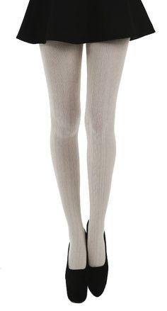 Linda Seta Tights (Cream) - Pamela Mann  #hosiery, #tights, #PamelaMann