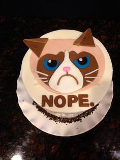 Birthday Cakes - My 39th Birthday Cake…Grumpy Cat (my favorite!)