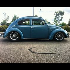 Vintage oval window Volkswagen beetle