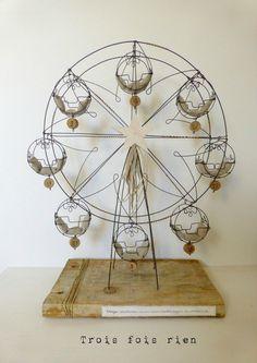 Grande roue fil de fer, wire, trois fois rien, vertigo 1