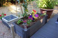 Construction d'une jardinière en lames de terrasse composite