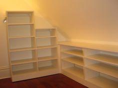 Maximizing Slanted Ceiling Storage Space image by JessBoo4 - Photobucket for attic library.