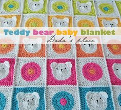 Dada's place: Teddy Bear Granny Square--The pattern for this has been removed, but it would be pretty easy to figure out.  So cute!  ~kg