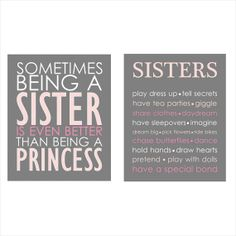 Sometimes being a SISTER is even better than by ThePrintsCess, $19.99