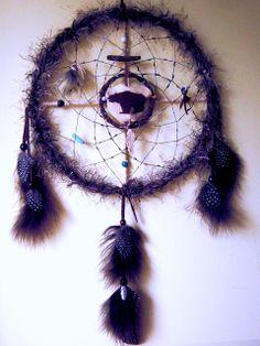 Bear Totem Dreamcatcher handmade by positivelypagan.com