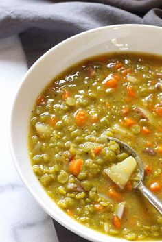 Perfect pea soup - vegan & gluten free  Love this soup!  Easy to make as well!  Approved for Arbonne's 30-Days to Healthy Living & Beyond!  www.lorenecolon.arbonne.com