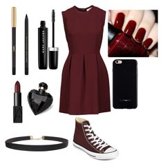 """""""Untitled #58"""" by awseome-girl-5953 ❤ liked on Polyvore featuring Converse, Sandro, OPI, Yves Saint Laurent, Marc Jacobs, Lipsy, NARS Cosmetics, Humble Chic and Felony Case"""