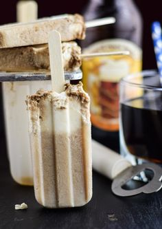 These boozy root beer float popsicles are made with only two ingredients and are the perfect adult treat for popsicle week and beat the summer heat!