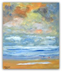 Acryl auf Hartfaser 48 cm x 57 cm x 1 cm Preis 310,- Euro  Am Strand