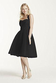 Short Halter Organza Bridesmaid Dress with Full Skirt Style F15900, Black, 0 David's Bridal http://smile.amazon.com/dp/B00SFR3GV0/ref=cm_sw_r_pi_dp_NVacxb0PZT8BV