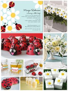 Ladybug party inspiration  - original link was bad so I linked it to google but can't find the orginal source