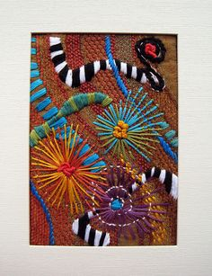 Free Form embroidery on recycled fabric - Jacque Davis