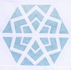 pattern available for free, just plain paper-piecing, not English, still a hexagon