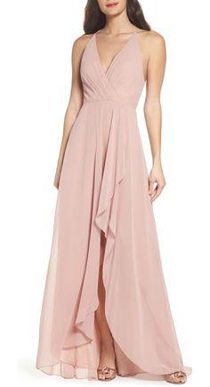 farrah ruffle skirt chiffon gown by Jenny Yoo.  #jennyyoo #dresses #gowns