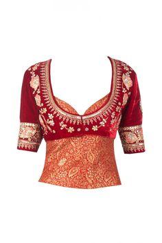 Ivory tree of life net lehenga available only at Pernia's Pop-Up Shop Kerala Saree Blouse Designs, Saree Blouse Neck Designs, Choli Designs, Fancy Blouse Designs, New Dress Pattern, Wedding Lehenga Designs, Rajasthani Dress, Indian Designer Outfits, Indian Attire