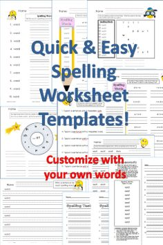 Printables Create Your Own Spelling Worksheets lesson plans phonics and classroom on pinterest easy peasy way to make your own spelling worksheets with templates just replace with