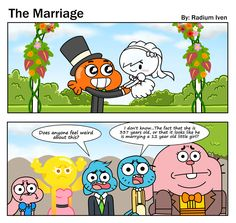 A Gumball comic based of one scene from The Drama. You know where it's from XD If you still don't get it, it's from that scene where Carrie reveals her . TAWoG FanComic: The Marriage Really Funny Memes, Stupid Memes, Funny Relatable Memes, Funny Jokes, Dnd Funny, Cartoon Games, Cartoon Art, Superboy And Miss Martian, Cumpleaños Lady Bug