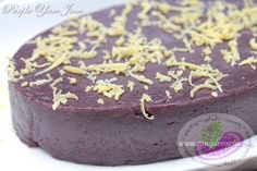 "Is a Filipino well-loved dessert, it is also called ""Ube Halaya"". This sweet purple yam recipe is made from fresh Purple Yam ""Ube"" which are boiled and mashed, cooked in evaporated and sweetened condensed milk, butter and sugar. The purple yam jam is sweet, creamy and a little bit sticky."