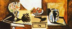 Пабло Пикассо. Натюрморт на комоде. 1955 год