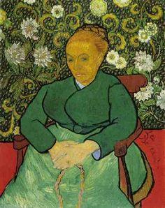 La Berceuse (Augustine Roulin)   Vincent Van Gogh   oil painting #vangoghpaintings