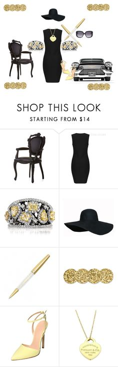 """""""Classic Black/Gold"""" by diamonddivabtq ❤ liked on Polyvore featuring Moooi, Mark Broumand, Kate Spade, Gibellieri, Tiffany & Co. and Christian Dior"""