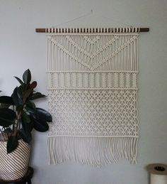 Forest Macrame Wall art by Holly Mueller