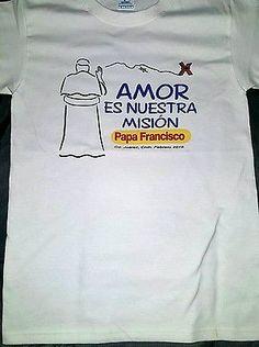 Papa Francisco Camiseta México 2016 / visita a México 2016 Papa Francisco