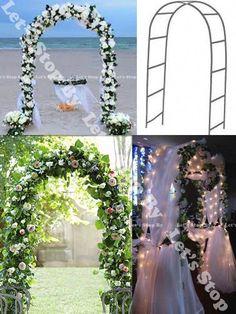 New 90 White Metal Arch Wedding Party Bridal Prom Garden Floral Decoration Metal Wedding Arch, Church Wedding Flowers, Wedding Arbors, Metal Arch, Arch For Wedding, Wedding Ideas, Wedding Trellis, Wedding Ceremony, Wedding White