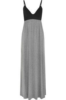 Donna Karan Sleepwear Two-tone jersey nightdress | NET-A-PORTER