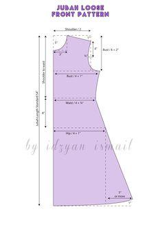 Assalamualaikum     Hai! hari ni saya nak share pola jubah longgar atau pun jubah A cut   sangat senang dan mudah untuk di buat pada begi...