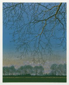 GRIETJE POSTMA Dutch, (b. 1961)  Woodcut printed in colors, 2002, edition 26. 16 3/4 x 13 3/4 in