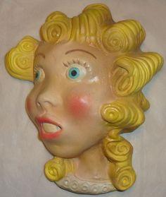 Blondie vintage string holder head bust Dagwood and Blondie comic Minty nice