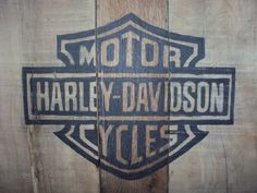 Reclaimed wood Sign Harley Davidson by RusticWoodsCompany on Etsy, $28.00