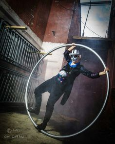 Cyr Wheel; Circus photoshoot; Photograph by: Ken LeBleu